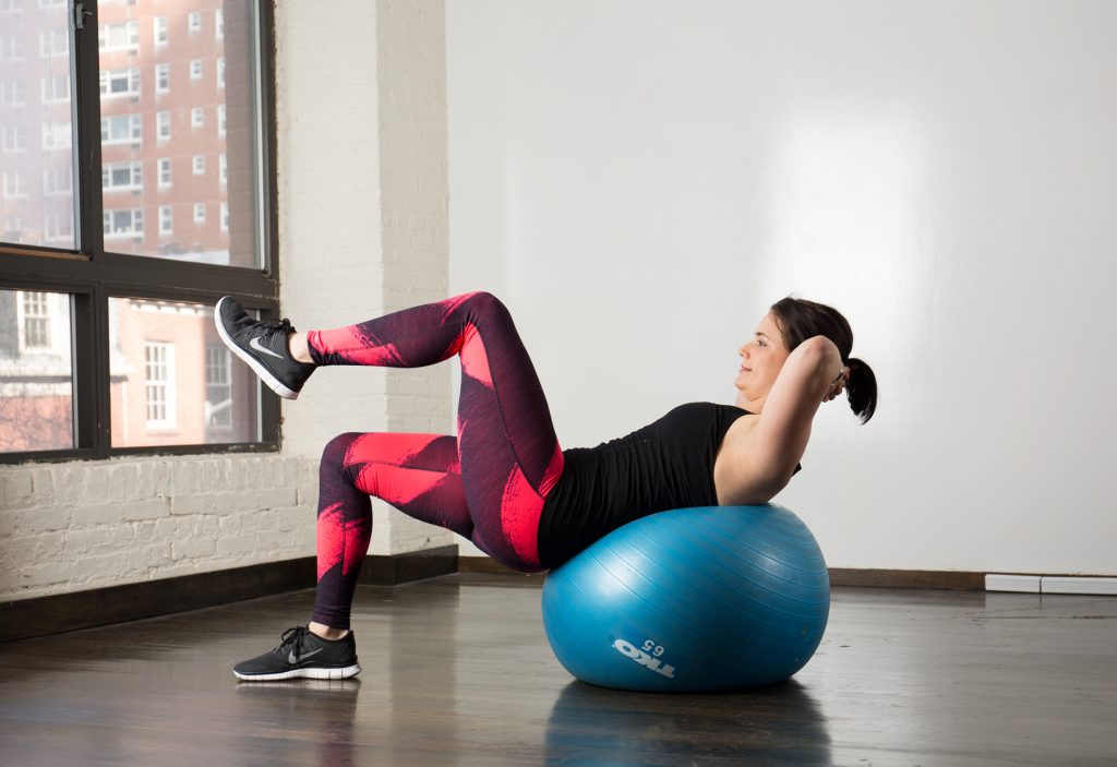 Exercises with a gymnastic ball (Fitball)