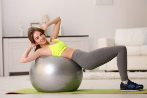 Complex exercises for the press on fitball